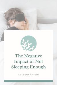 not sleeping enough